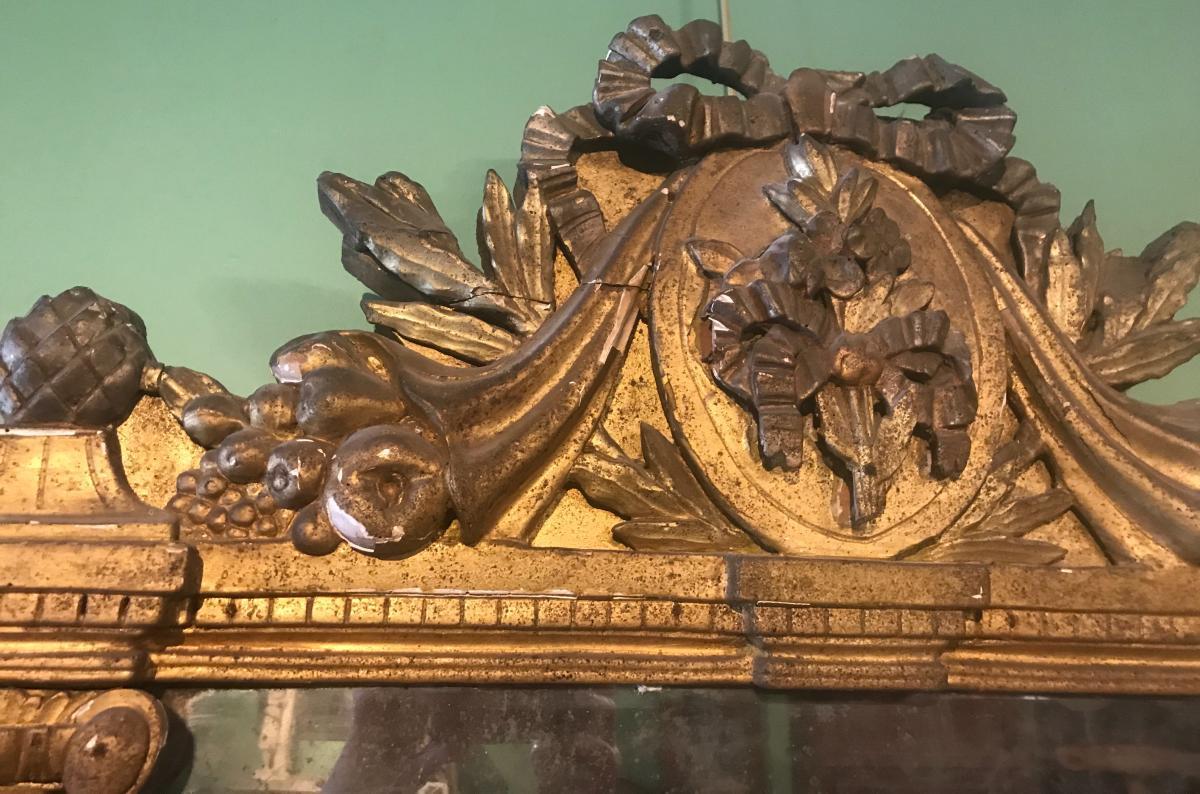 Miroir à Fronton D'époque Louis XVI-photo-4