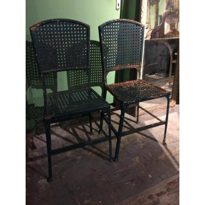 Pair Of Serrurier-bovy Chairs