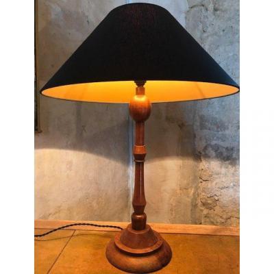 Lampe en bois  Années 20-30