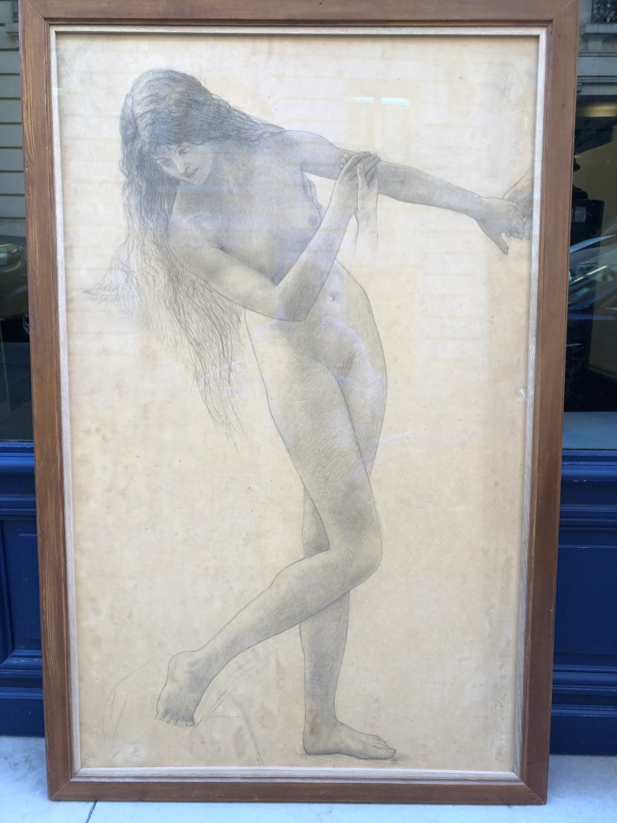 Young Girl Drawing By Paul Sieffert