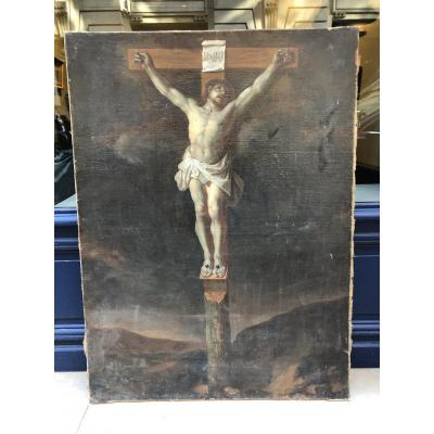 Oil On Canvas Crucifixion