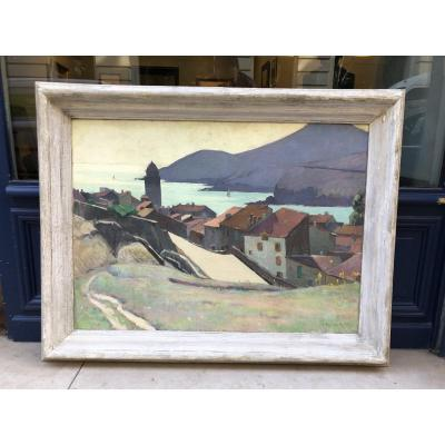 Collioure - Oil On Canvas - French School Signed