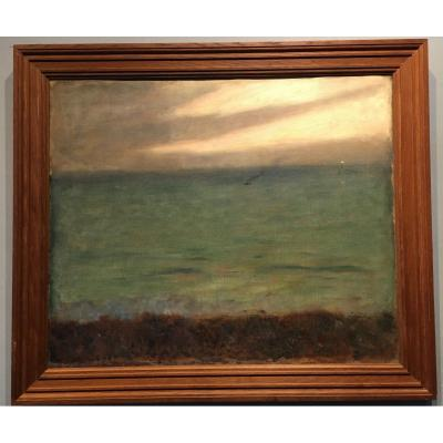 Seascape - Louis Picard - Oil On Canvas