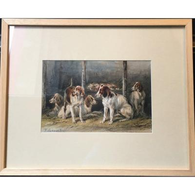 Hunting Dogs - Watercolor