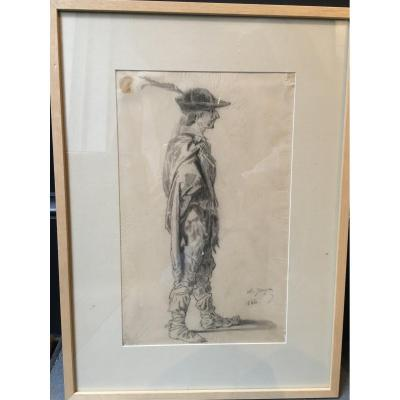 Drawing Man With A Hat