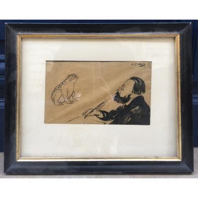 Portrait Of Emile Zola - Gabriel Ibels