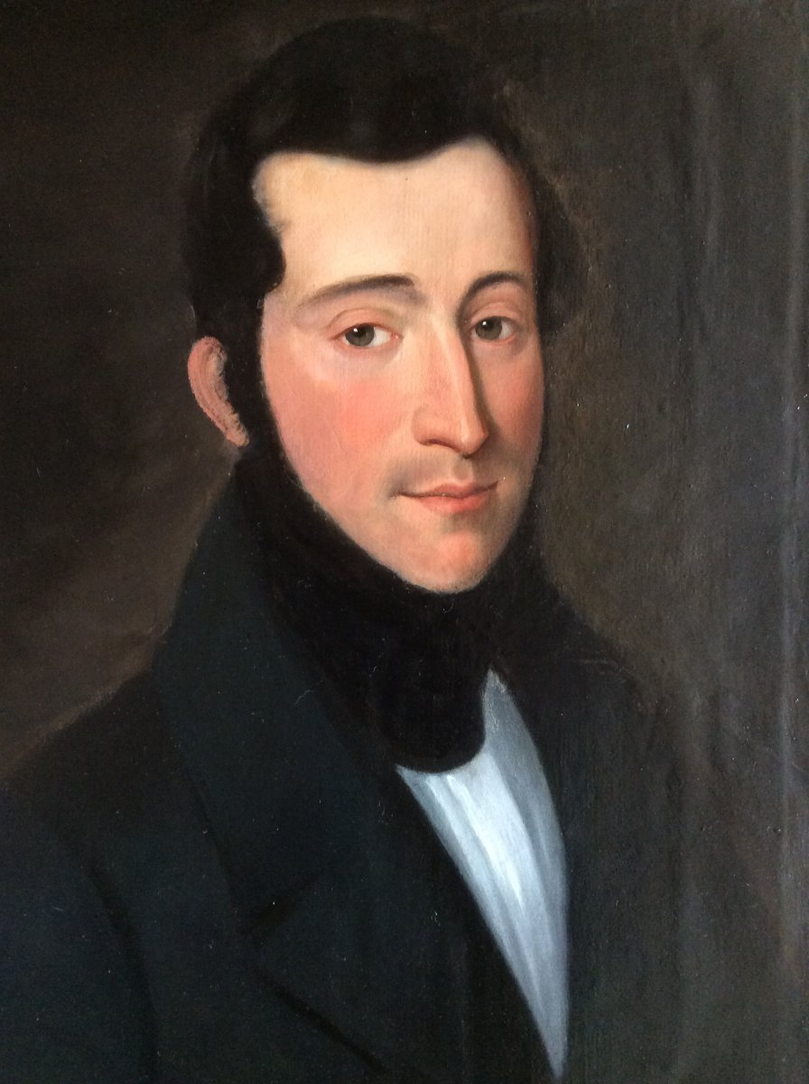 Portrait Of The Second Empire Period Man.-photo-2