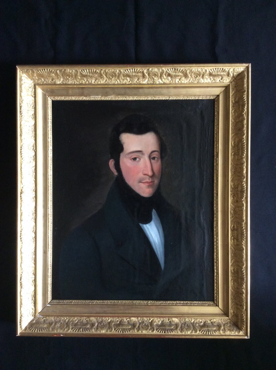 Portrait Of The Second Empire Period Man.