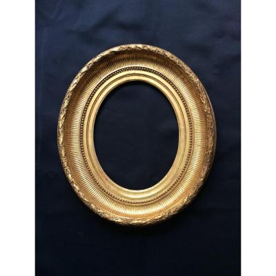 Oval Frame With Channels From The XIXth Century.