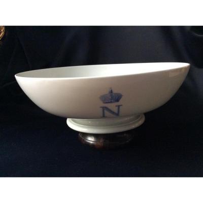 Napoleon III Porcelain Salad Bowl. Sèvres 1866