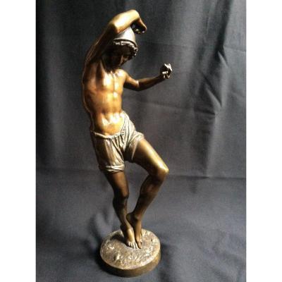 Bronze : jeune pêcheur dansant la tarentelle