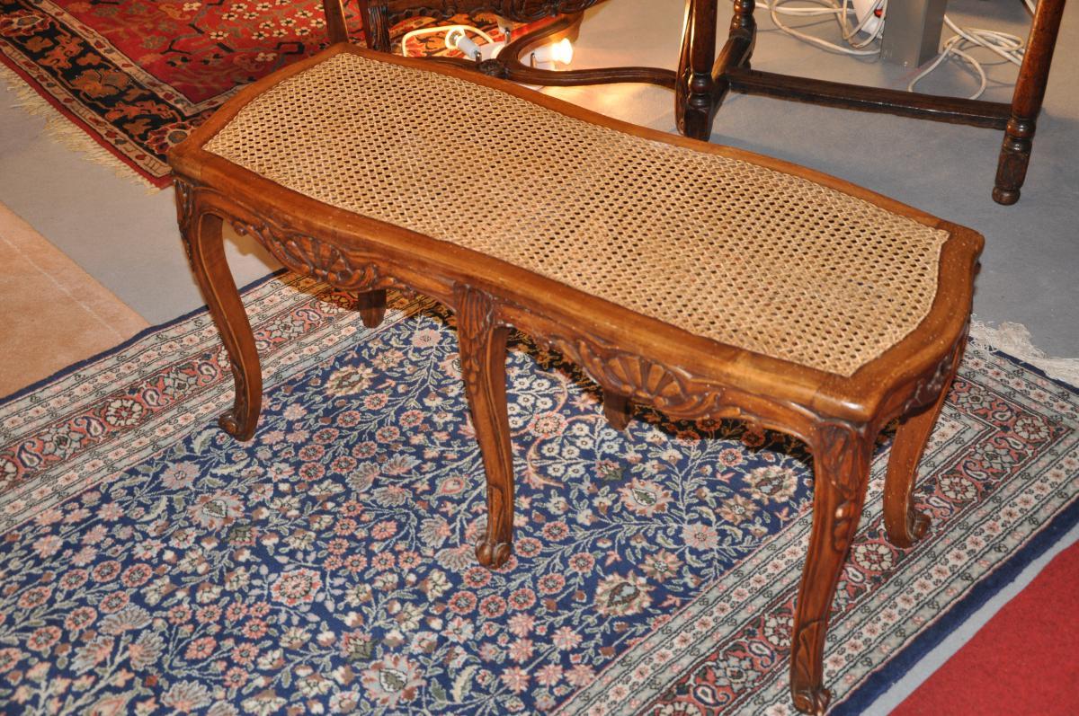 banquette cann e en h tre de style louis xv banquettes canap s. Black Bedroom Furniture Sets. Home Design Ideas
