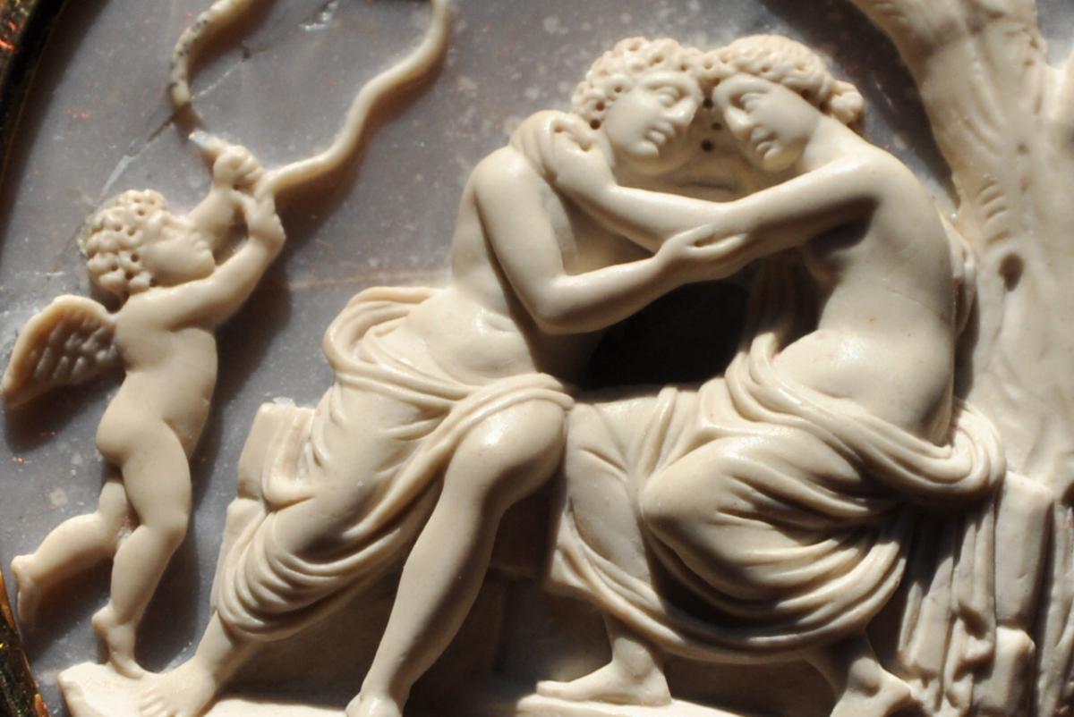 Grand Camée Du  XVIII ème : Les Amours De Mars Et Vénus