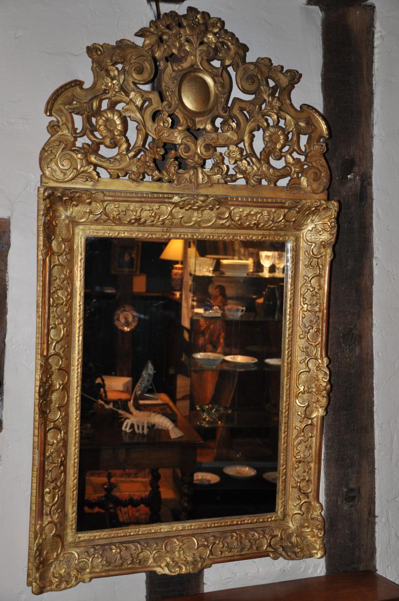 Regency Mirror Fronton Openwork