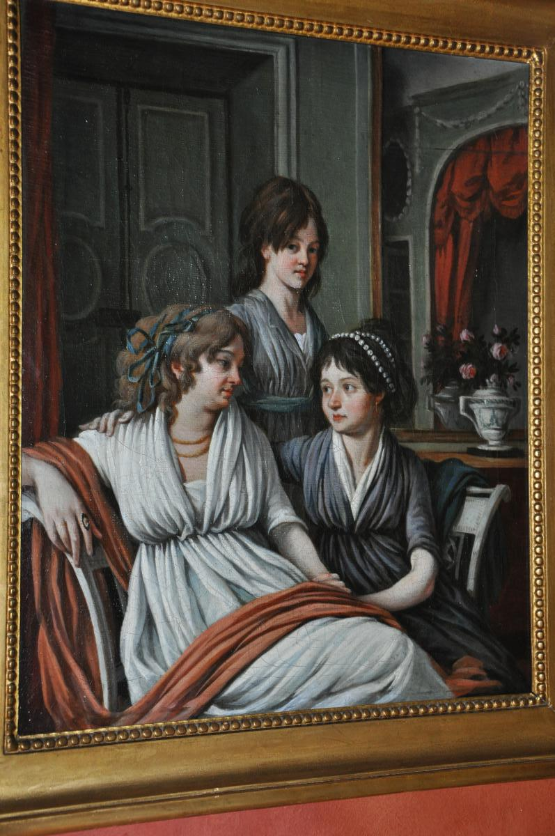 Scène Intimiste, Portrait De Famille Du Début Du XIXème Siècle