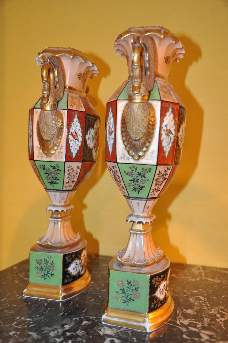Paire De Vases Du XIXème Siècle Attribués à Jacob Petit-photo-4
