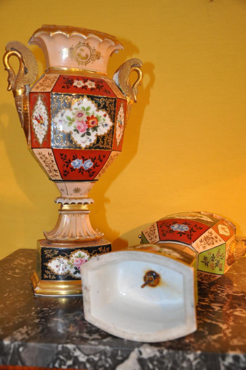 Paire De Vases Du XIXème Siècle Attribués à Jacob Petit-photo-2