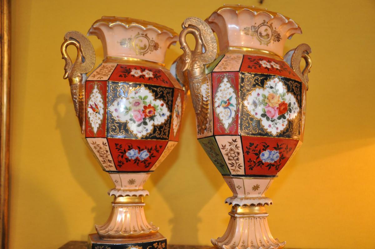 Paire De Vases Du XIXème Siècle Attribués à Jacob Petit-photo-3