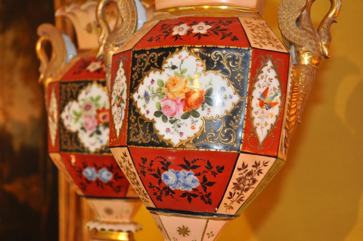 Paire De Vases Du XIXème Siècle Attribués à Jacob Petit-photo-5