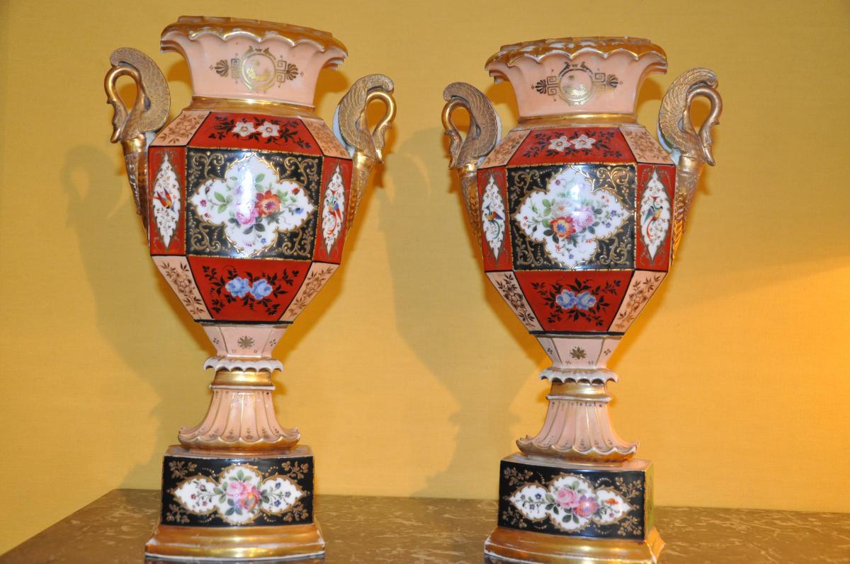 Paire De Vases Du XIXème Siècle Attribués à Jacob Petit-photo-6