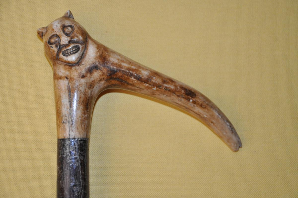 "Beautiful Devil's Head Cane ""popular Art"""