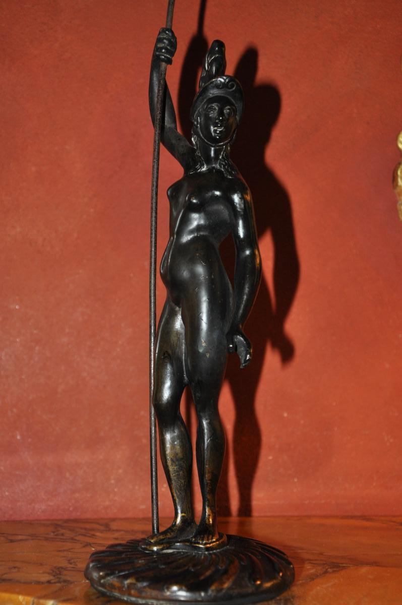 Minerve, Important Bronze d'Inspiration Renaissance