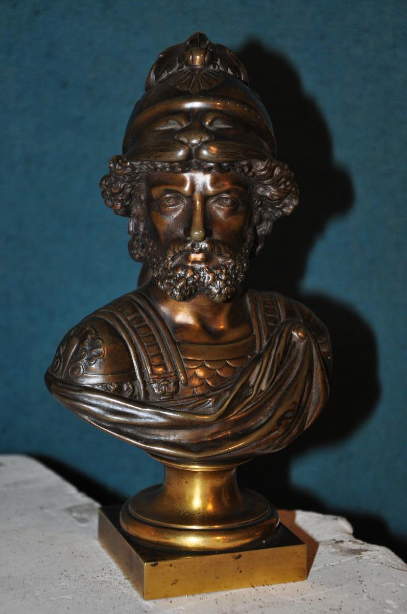 Bronze Bust Of The Nineteenth Century: Ajax