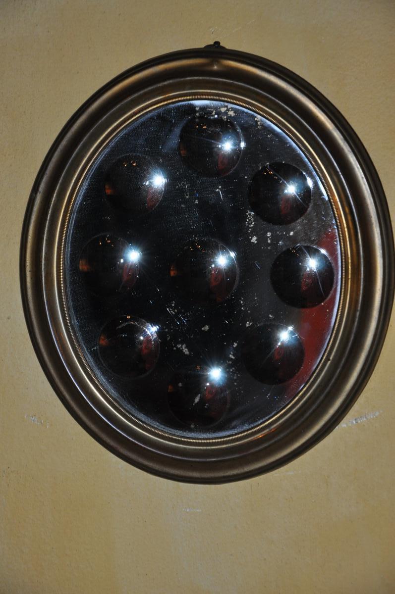Miroir à Pastilles XIXème Siècle-photo-4