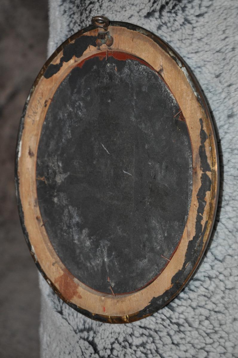 Miroir à Pastilles XIXème Siècle-photo-1