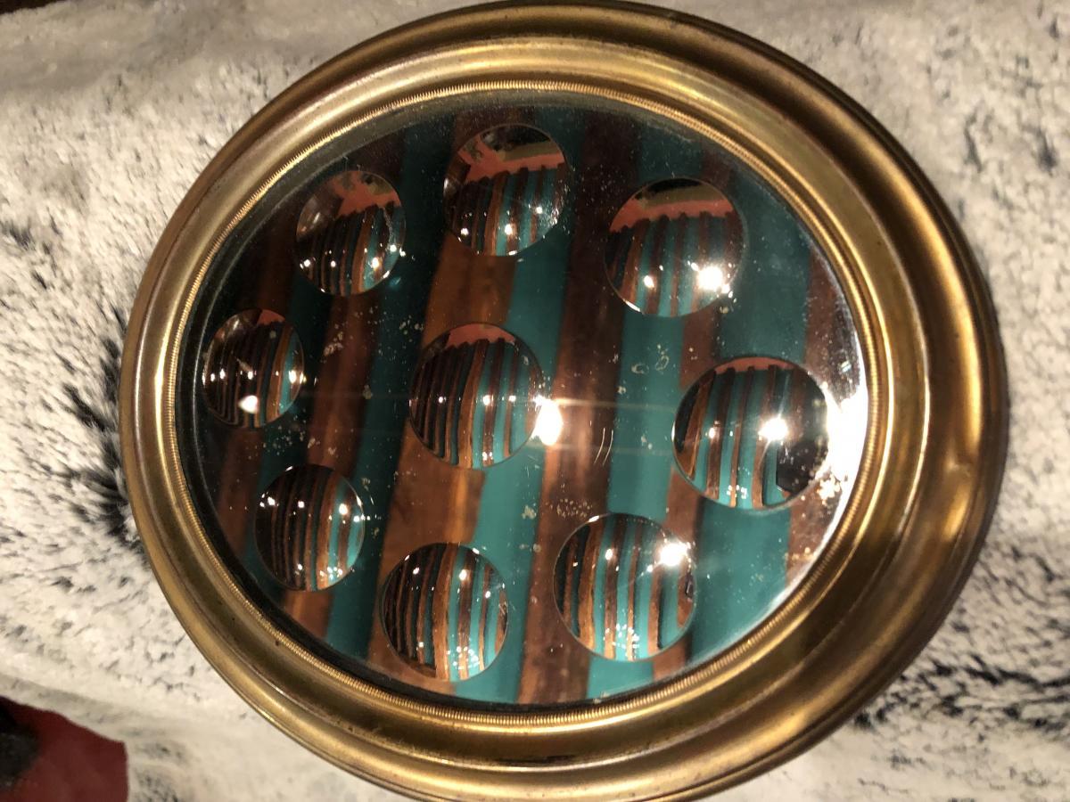 Miroir à Pastilles XIXème Siècle-photo-5