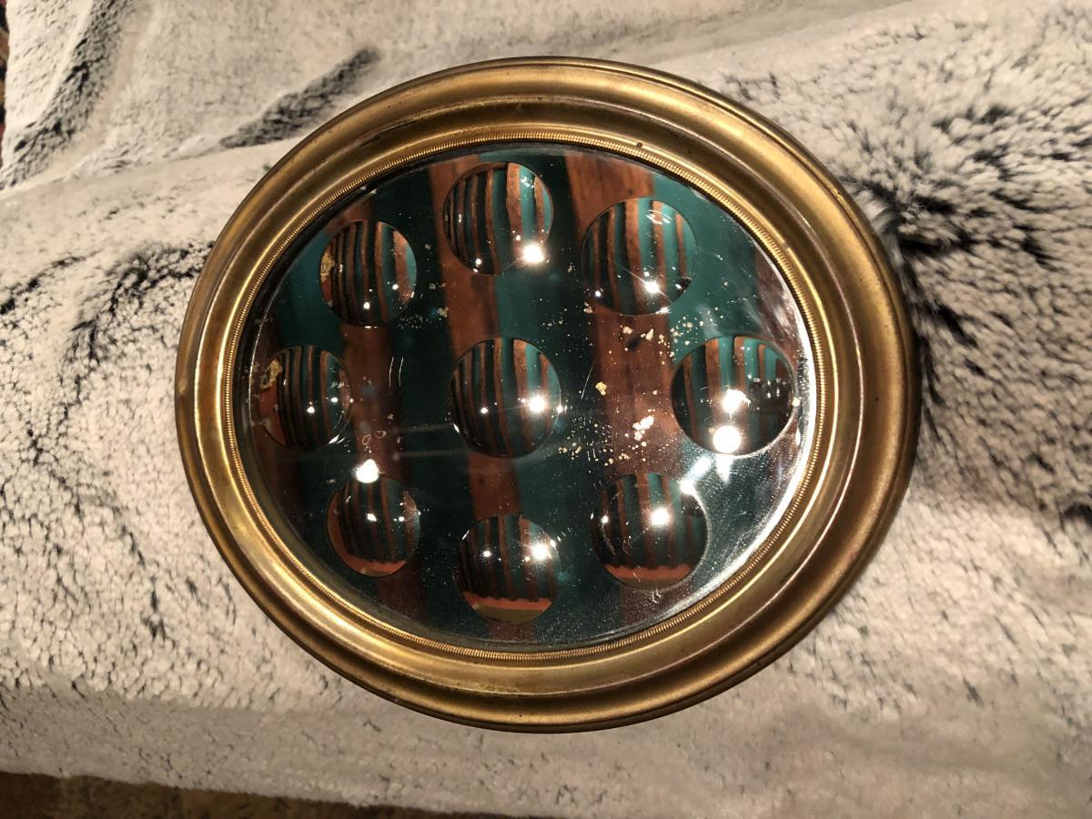 Miroir à Pastilles XIXème Siècle-photo-6