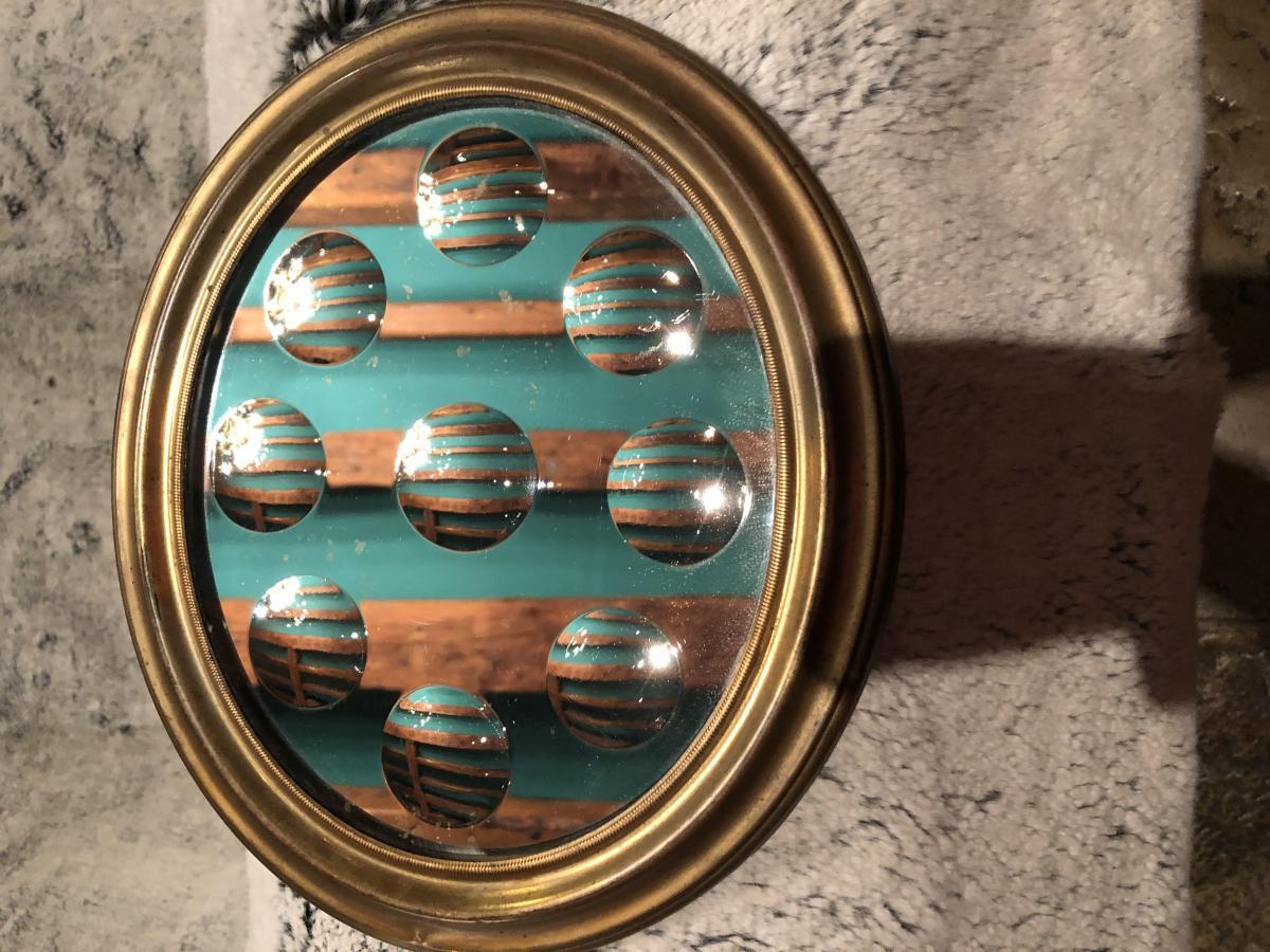 Miroir à Pastilles XIXème Siècle-photo-7