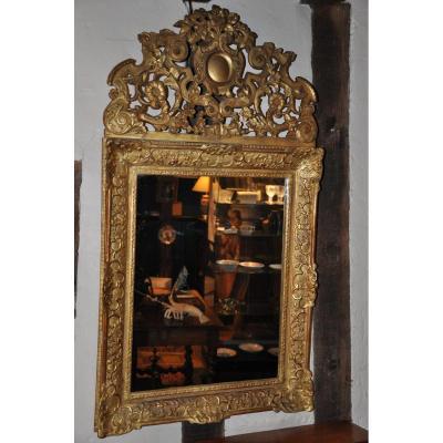 Miroir Régence à Fronton Ajouré