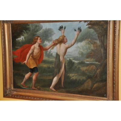 Apollo And Daphne Oil On Canvas Of The End Of The XVII