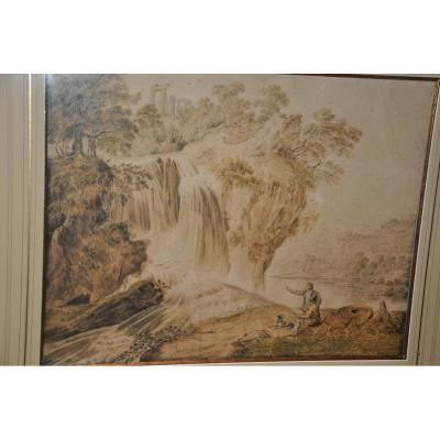 Pair Of Great Romantic Drawings From The Beginning Of The Nineteenth Century