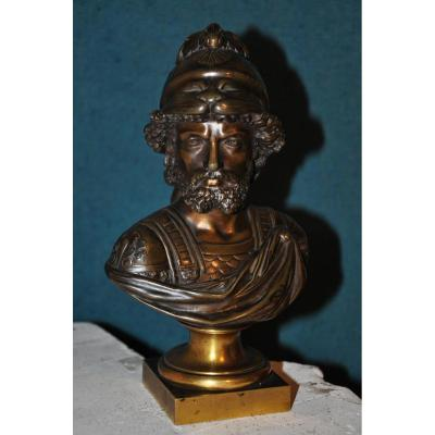 Buste En Bronze Du XIXème Siècle : Ajax
