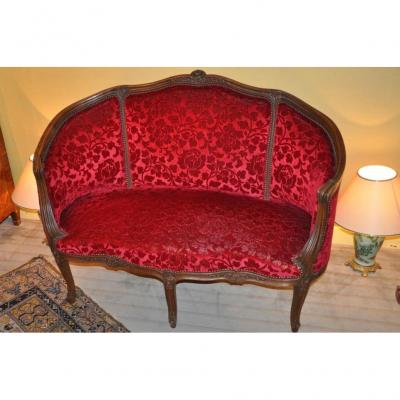 Petit Canapé Corbeille De Style Louis XV