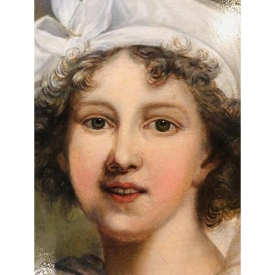 Huile Sur Panneau Du XIXe Siècle Madame Vigée Le Brun