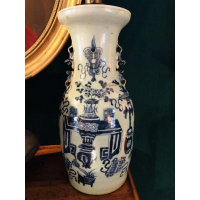 Pair Of Chinese Vases Mounted In Lamps