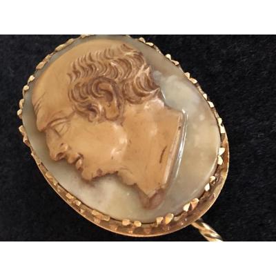 Profile Of Vespasian, Large Cameo Early Nineteenth