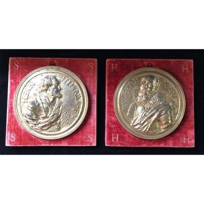 Great Restoration Period Medals In Gilt Bronze