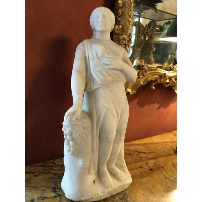 18th Century Marble: Demeter Goddess Of Harvests And Agriculture