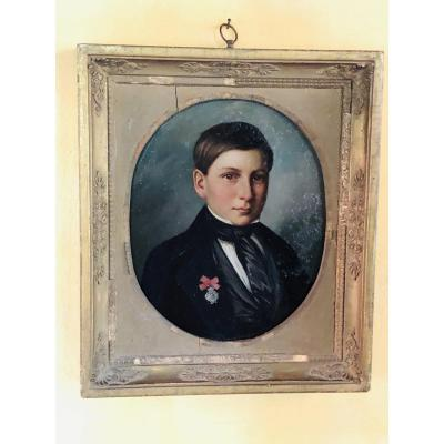 Young Romantic Boy With Decoration, From 1849