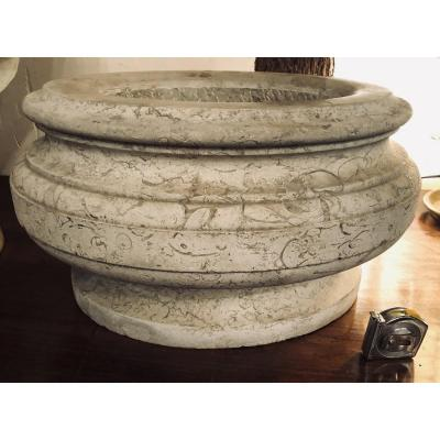 Large Oval Refreshing Cooler In Fossil Stone