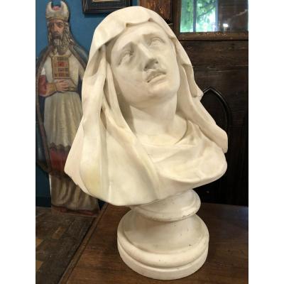 Virgin Of Pain, Mater Dolorosa, XVIII Eme Century In Marble