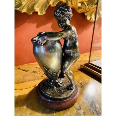 Large Silver Bronze Forming Vase Signed Kley Around 1900