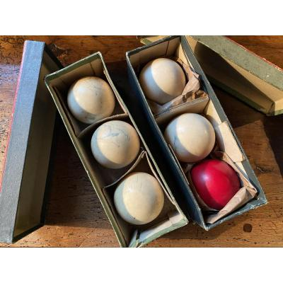 Set Of French Billiard Balls From The End Of The XIX Eme Century