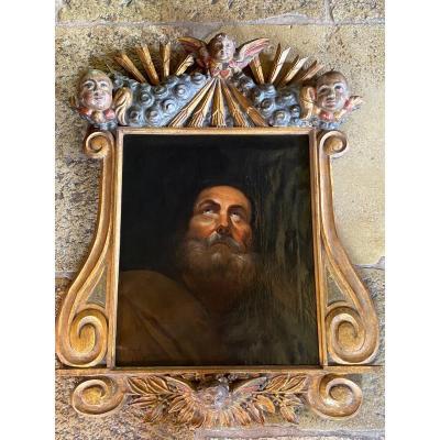 Portrait D'un Philosophe Ou D'un Saint, XIX Eme Siècle