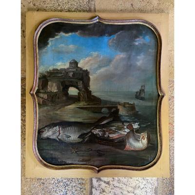 Peinture De Boiserie Du XVIII Eme Siècle