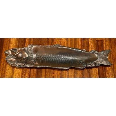 Japan Meiji Era, Astonishing Flayed Salmon Devoured By Rats, Signed